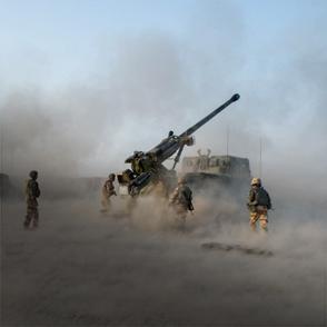 Le canon CAESAR au sein de la Task Force Wagram