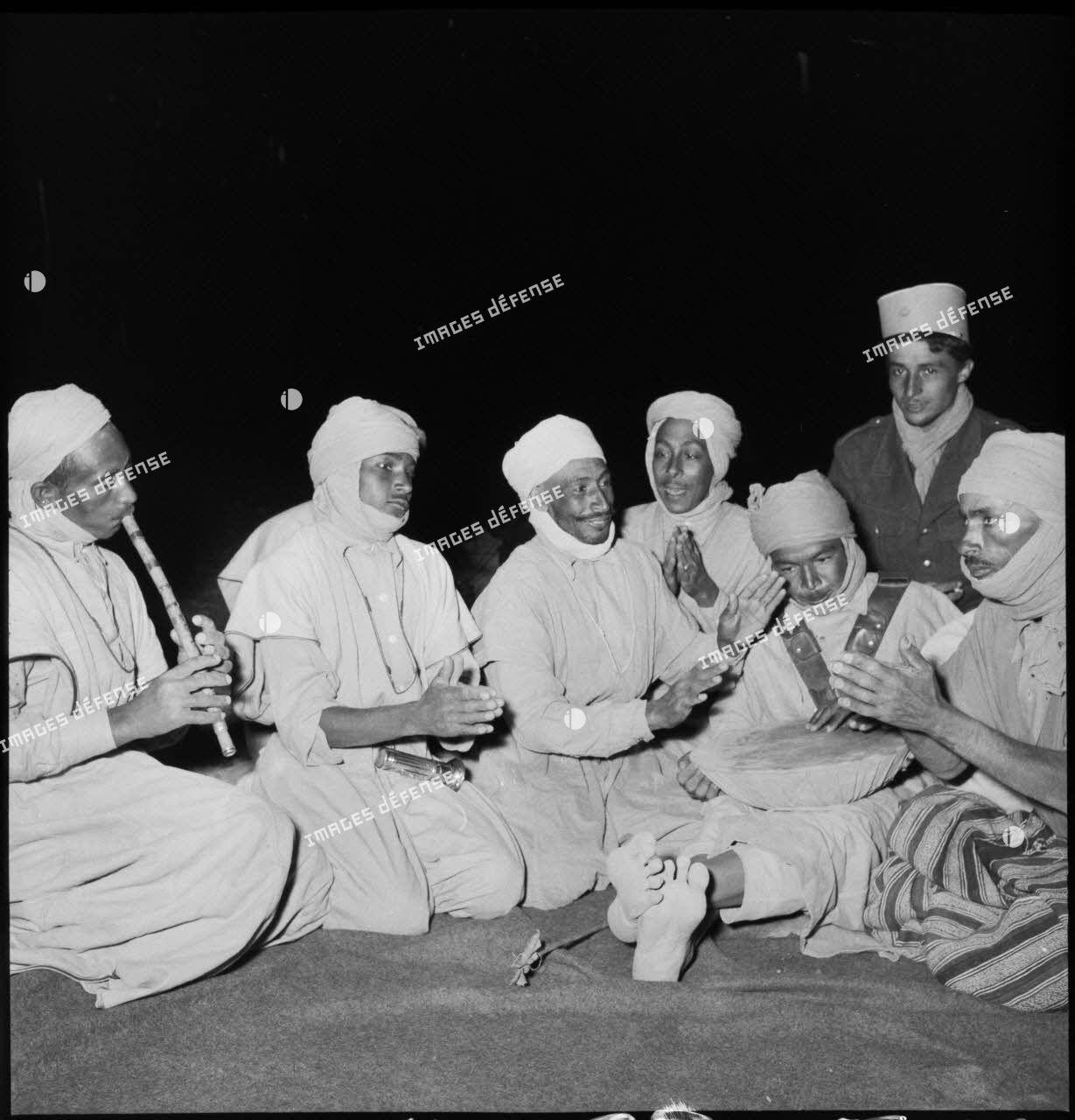 1er peloton de la compagnie méhariste de Touat : musique.