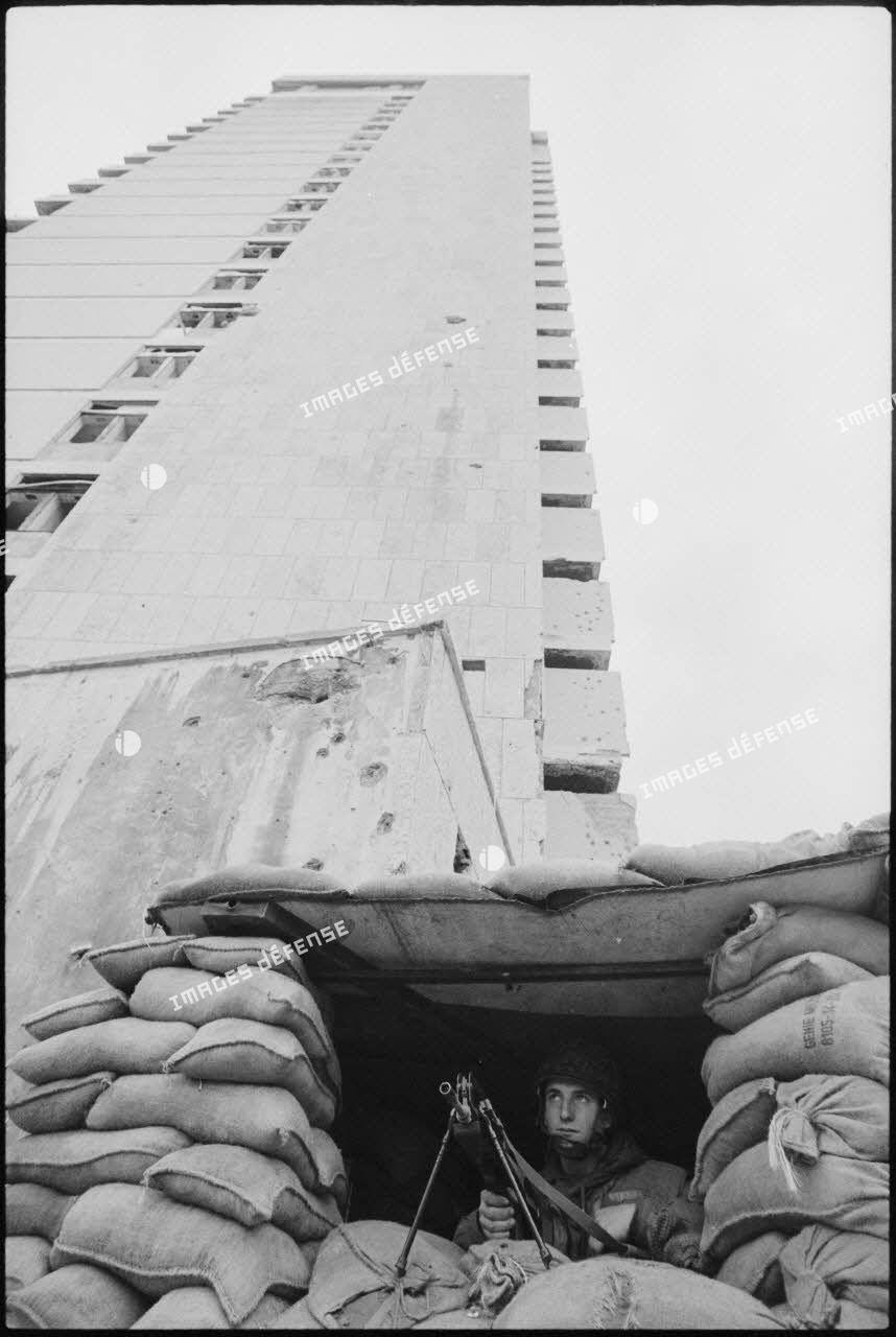 Poste du 6e régiment d'infanterie parachutiste (RIP), Beyrouth.