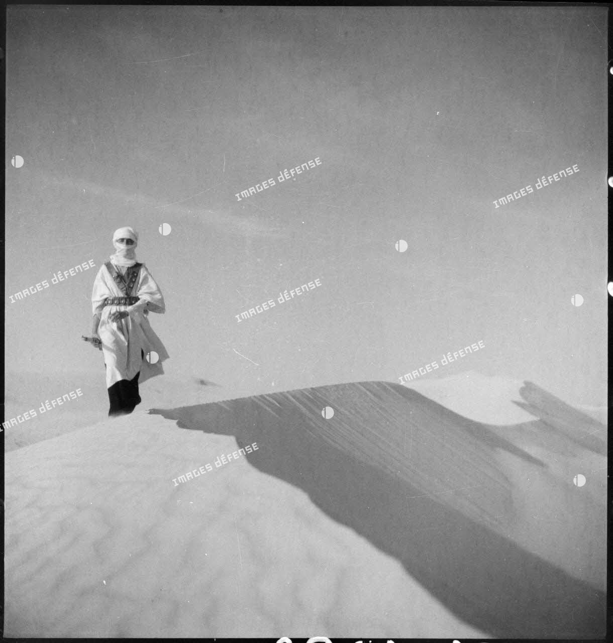 Méhariste dans le désert.