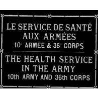 Le Service de Santé aux Armées, 10e armée et 36e corps.