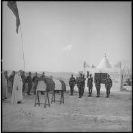 Levée de corps au cantonnement du commando Georges.