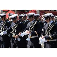 Rassemblement des élèves officiers mariniers de l'Ecole de maistrance lors du 14 juillet 2018 à Paris.