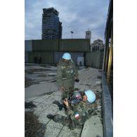 Opérateurs de l'ECPA en mission de reportage en ex-Yougoslavie.