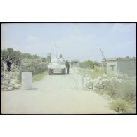 Activités du bataillon français de la FINUL et intervention israélienne au Liban sud.