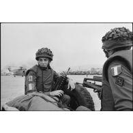 Réembarquement pour la France des forces françaises à Beyrouth (Liban).