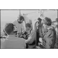 Voyage de presse auprès des observateurs casques-blancs au Liban en juillet 1984.