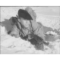 Entraînement du 159e bataillon d'infanterie alpine.
