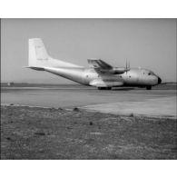 Présentation de l'avion de transport Transall C 160 à Istres le 4 mai 1963.