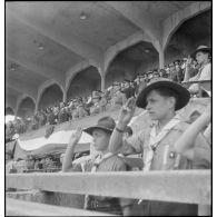 Le sport dans l'armée d'armistice : finales des coupes de France militaires de football et de cross-country à Vichy (Allier).