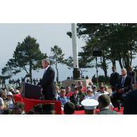 Commémoration du 60e anniversaire du Débarquement en Normandie.