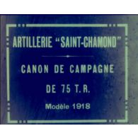 [Essais de matériels d'artillerie Saint-Chamond.]