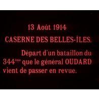 Départ d'un bataillon du 344e que le général Oudard vient de passer en revue.