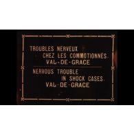Troubles nerveux chez les commotionnés, Val de Grâce.