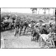 L'offensive de Ménin. La vaccination de prisonniers allemands, septembre 1917.