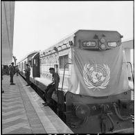 Arrivée à Port-Saïd du détachement norvégien de l'ONU.