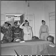 Ouverture du tribunal militaire de la Force A à Port-Fouad.