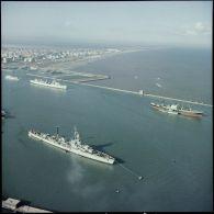 Vues aériennes en Agfacolor de Port-Saïd.