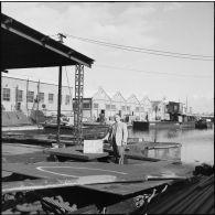 Enquête de la prévôté militaire de Port-Saïd sur les dégâts causés par les sabotages des Egyptiens.