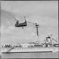 Port-Saïd pendant le rembarquement des troupes franco-britanniques.