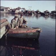 Vues en Agfacolor de militaires français et de l'ONU à Port-Saïd et Port-Fouad.