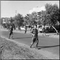 Dernière patrouille du 2e RPC à Port-Fouad.
