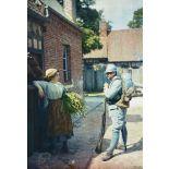 Commencement d'idylle, Oise, 1916. [légende d'origine]