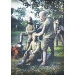 Au camp de goumiers, Pas-de-Calais, 1915, la toilette. [légende d'origine]