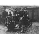 [Machine à cisailler automatique et à scie circulaire pour la destruction des réseaux des fils de fer, février 1915.]