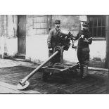 [Appareil d'expérience - coupe des fils, novembre 1914.]