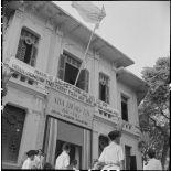 L'entrée de la Direction de l'information du nord Vietnam lors d'une exposition de peinture.