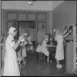 Infirmières à l'hôpital militaire Lanessan.