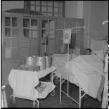 Le repas des convalescents à l'hôpital militaire Lanessan.