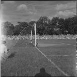 Le goal de la sélection vietnamienne d'Hanoï lors du match contre l'équipe militaire de France.