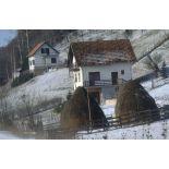 Convoi de VAB du BAT INF 2 (RICM) sur les routes bosniaques enneigées en direction de Rogatica.