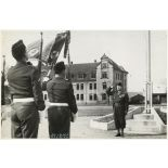 Prise de commandement du 37e bataillon d'ouvrages (37e BO) par le lieutenant-colonel Gourand.