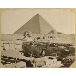 Numéro 108. Pyramide de Chéops, Sphinx et les catacombes. [légende d'origine]