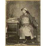 Chine, Tien-Tsin, 1878. Portrait du vice-roi Li Hung Shang (1823-1901).<br>