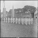 Au cours de baptême d'élèves officiers d'une promotion du Bao Chinh Doan,  les nouveaux promus entonnent en choeur le chant