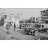 Point de contrôle Est à l'entrée du port de Beyrouth.