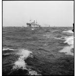 Convoi de navires de la marine marchande.