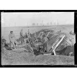 Haute-Saône, près de Lure, La Verrerie, soldats russes travaillants dans les carrières. [légende d'origine]
