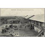 Casablanca. - Légionnaires et Zouaves dans les Baraques du Camp. [légende d'origine]