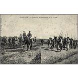 Casablanca. - Les Prisonniers de Settat escortés par les Zouaves. [légende d'origine]