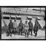 Fromeréville-les-Vallons (Meuse), le groupe de correspondants de guerre. [légende d'origine]