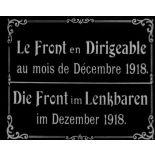 Le front en dirigeable au mois de décembre 1918.