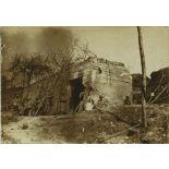 21 mars 1917. Ferme de Chantereine. P.C. du colonel devant Sancy (Aisne). Avons passé par le fort de Condé la ville de Condé, péripétie de nuit avec bicyclette en guise d'éclaireurs. [légende d'origine]