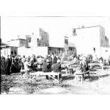 Port-Saïd. Le marché arabe. Marchands de canne à sucre. [légende d'origine]